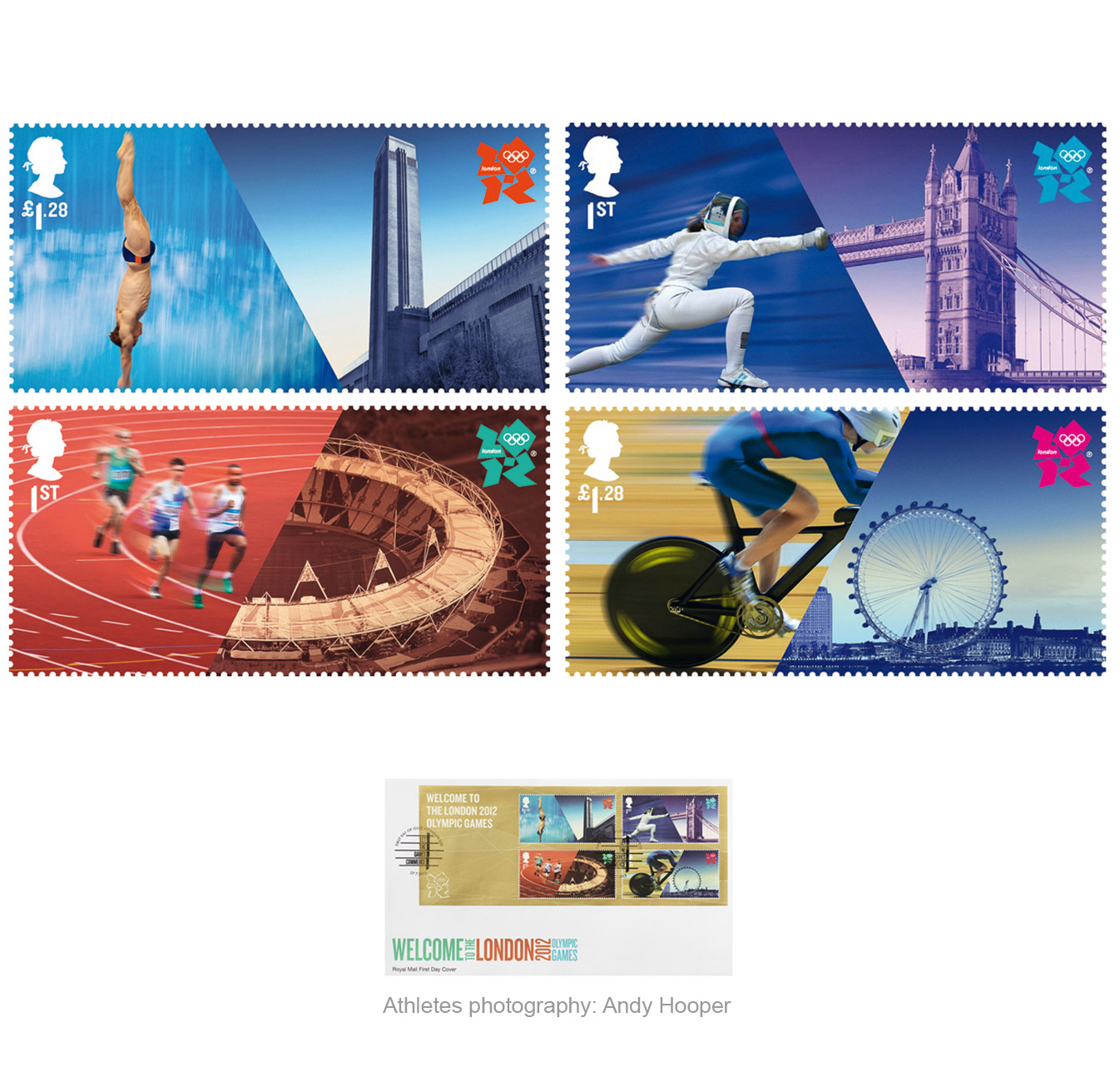 Paul Grundy. Royal Mail Olympic 2012 Stamps
