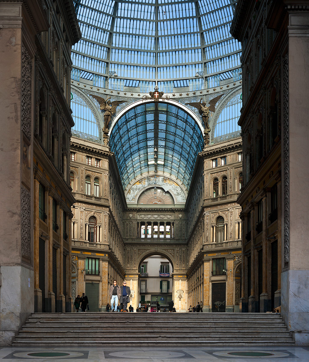 Paul Grundy. Galleria Umberto, Naples