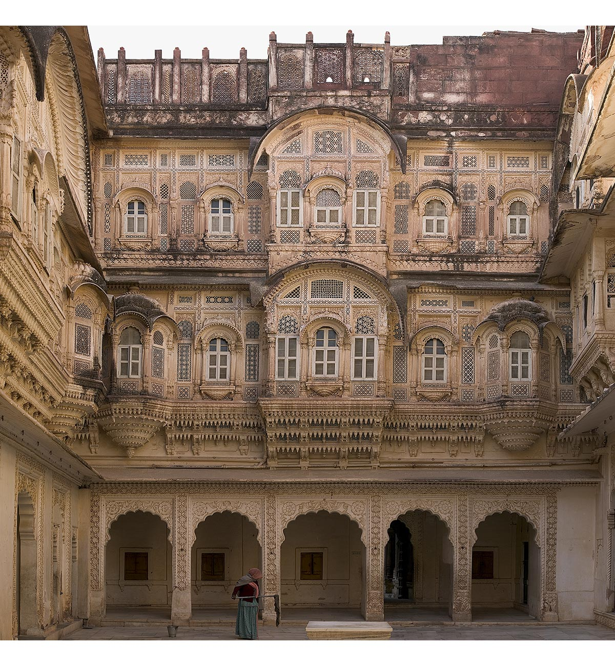 Paul Grundy. Zenana, The Purple Fort,  Jodhpur